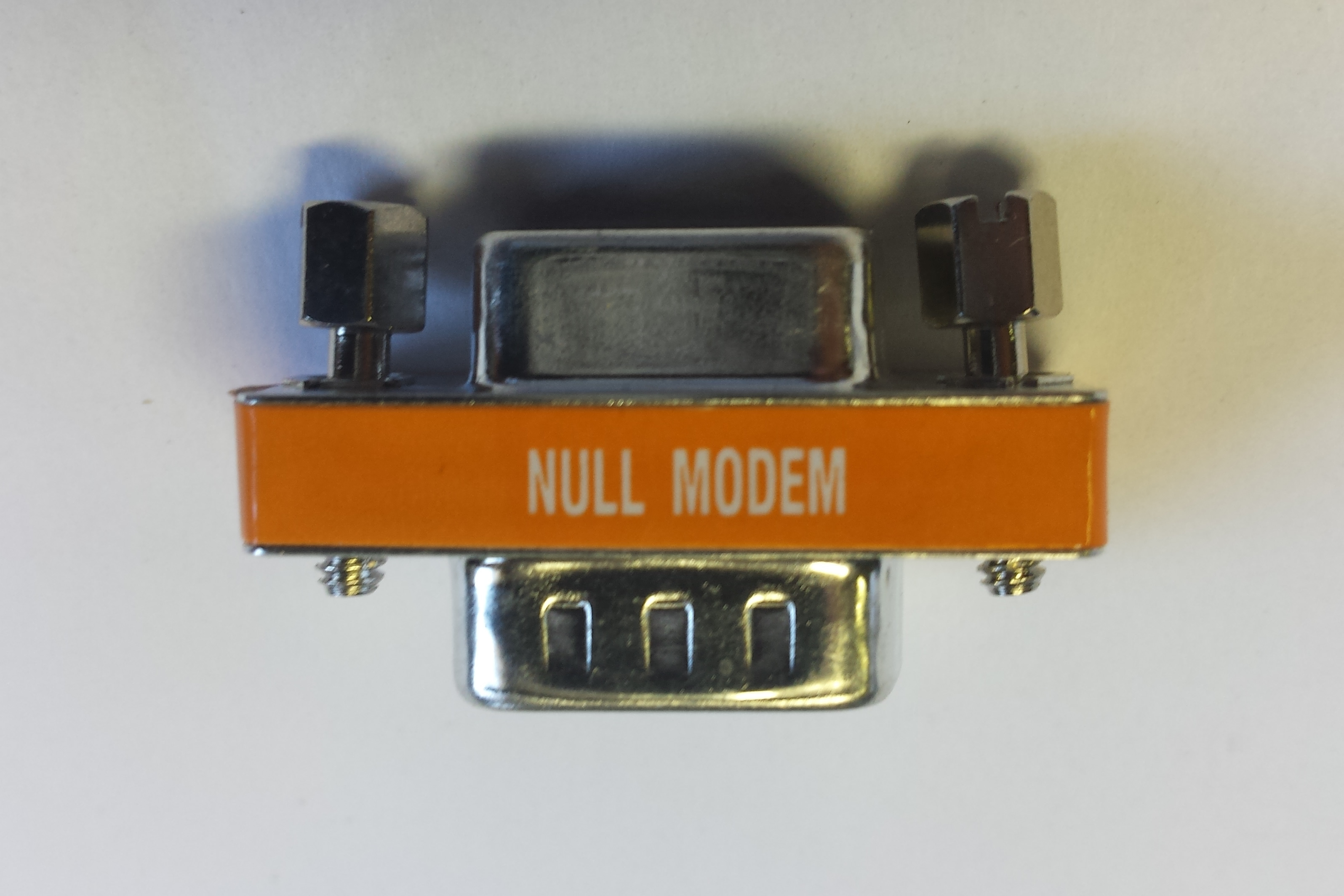 DB9 male to female Null modem mini gender changer