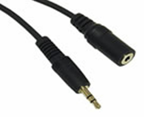 3.5 mm Stereo M-F ext. Cable 6 Ft