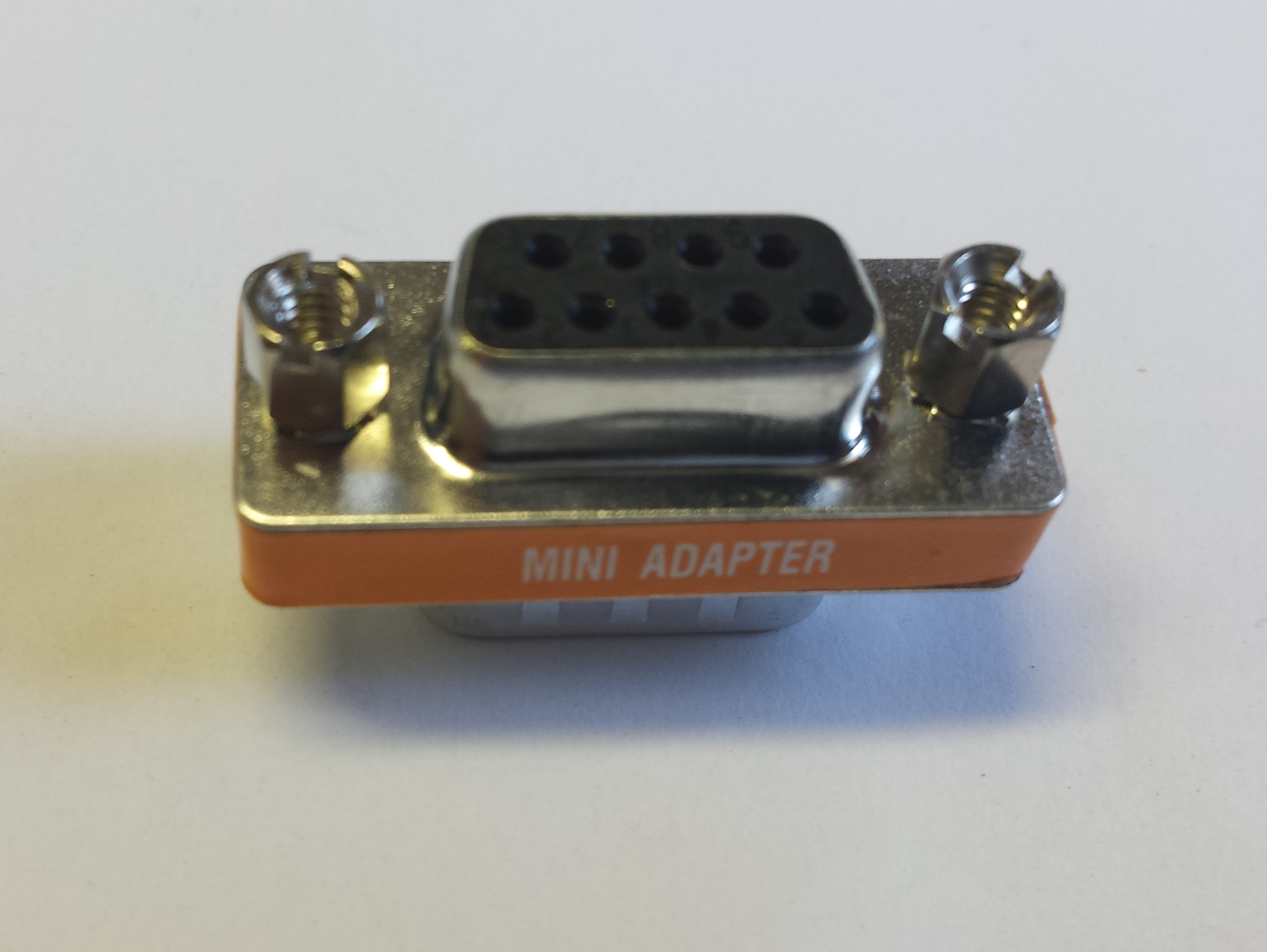 DB9 female to female Null modem mini gender changer