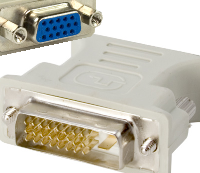 DVI-D (24+1) male to VGA female adapter