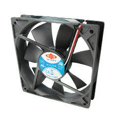 Case fan 120X120X25 mm Dbl. ball bearing 3 & 4 pin power
