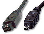 Firewire 800 cable 9 pin to 4 pin 6 Ft.
