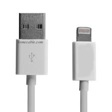 IPhone 6, 5 Sync. and power cord 3 Ft. white lightning cable - Click Image to Close