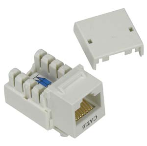 CAT6 keystone Jack White RJ45 110 Type