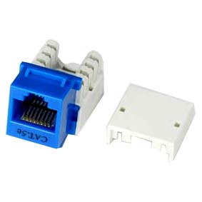 CAT5E keystone Jack Blue RJ45 110 Type