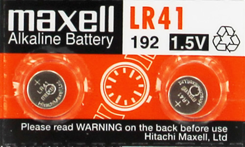 LR 41 Maxell watch battery Alkaline 1.5 V