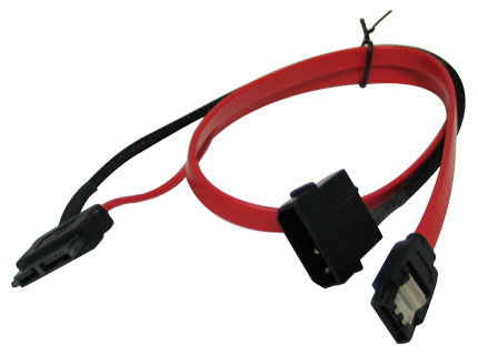 Slim SATA power and data cable