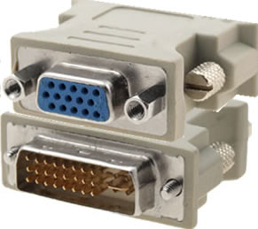 DVI-I (28+1) male to VGA female adapter